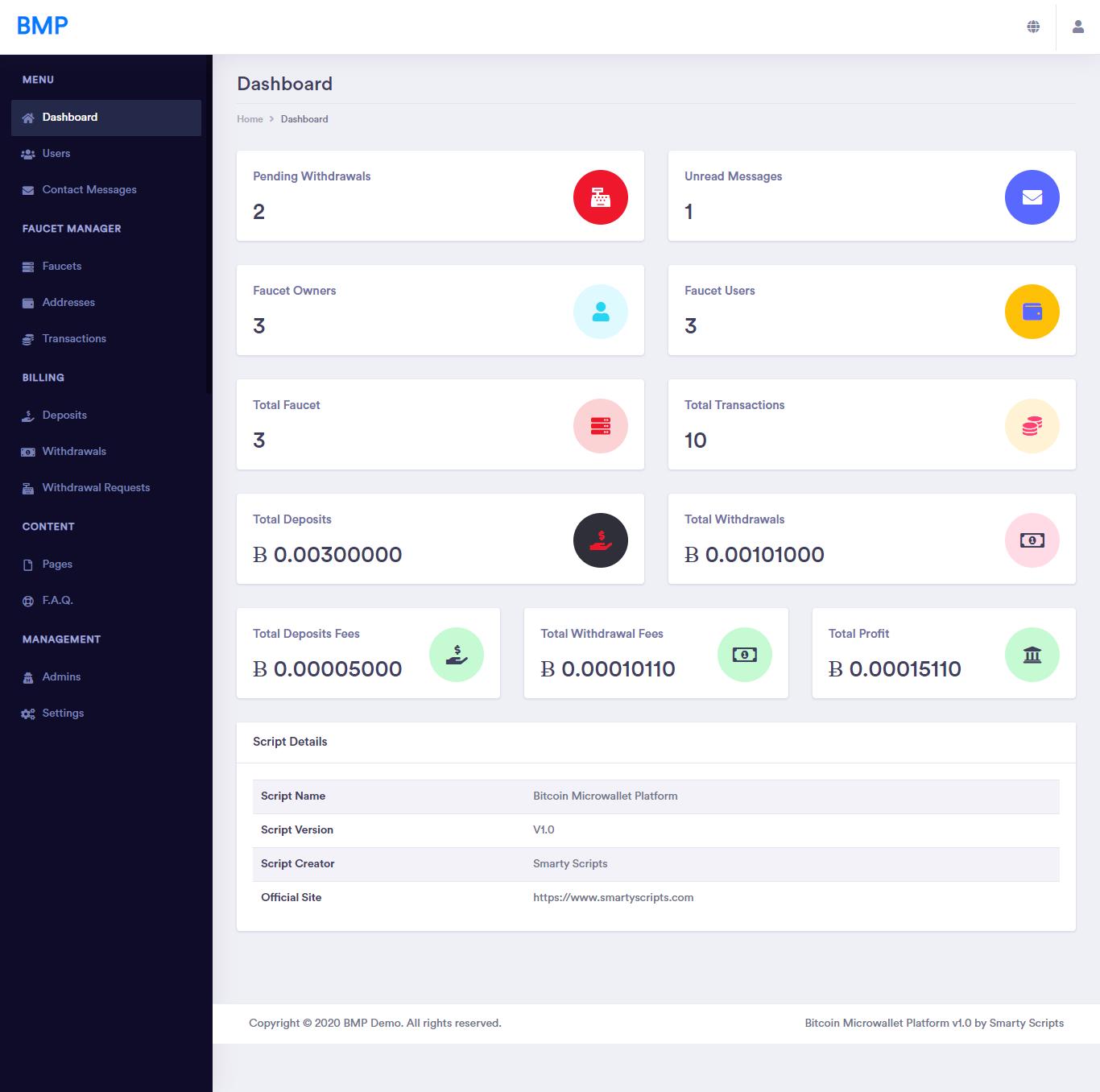 BMP - Bitcoin Microwallet Platform - Screen 3
