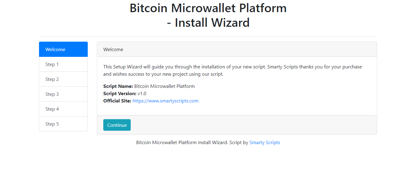 BMP - Bitcoin Microwallet Platform - Screen 4