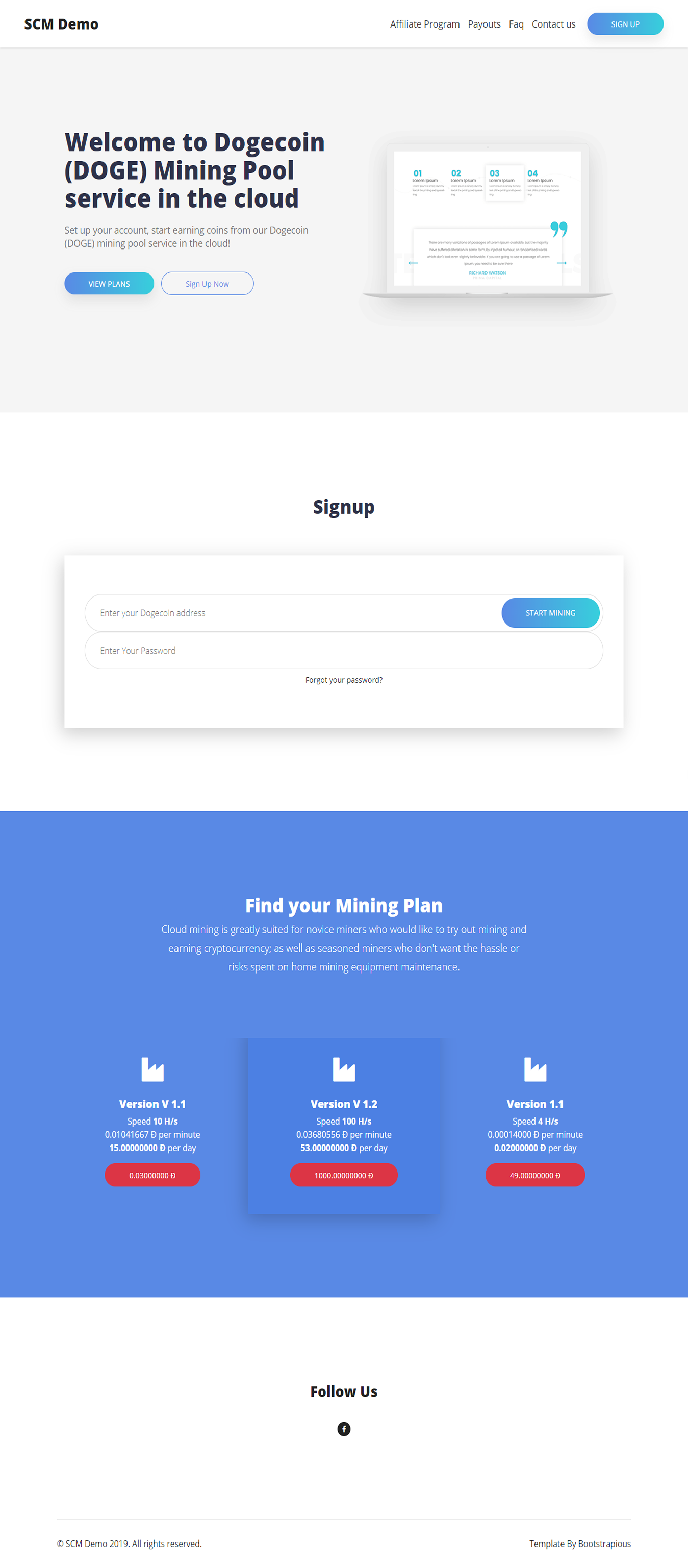 LandyMiner Theme for SCM Script - Screen 1